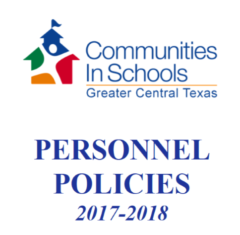 CIS of Greater Central Texas Personnel Policies