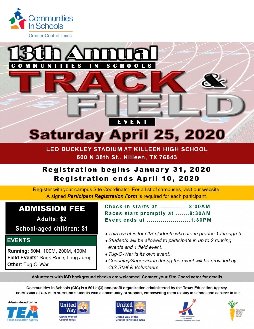 13th Annual CIS Track & Field Event
